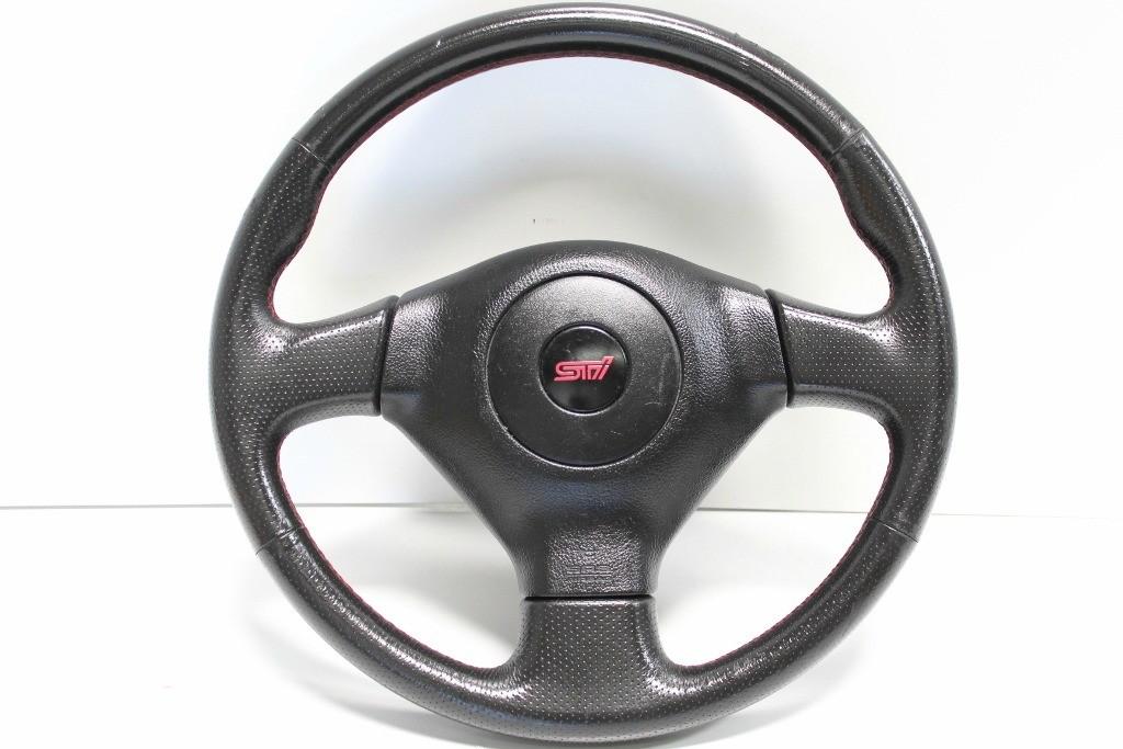 used jdm subaru wrx sti version 8 2004 2005 steering wheel. Black Bedroom Furniture Sets. Home Design Ideas