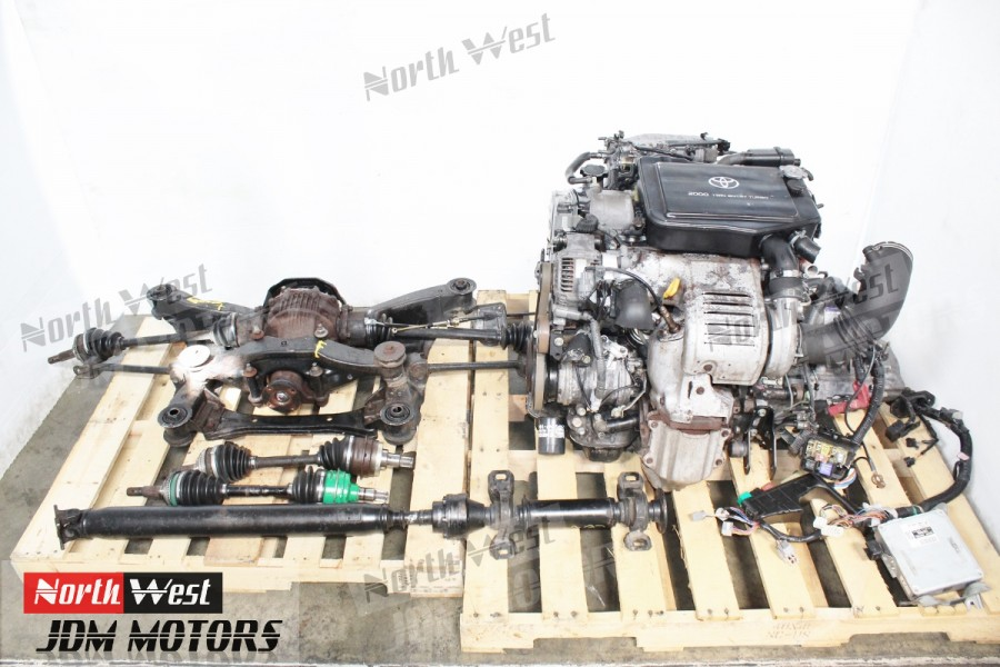 94-99 JDM Toyota Celica GT-Four ST205 Turbo 3S-GTE Engine AWD 5 Speed Trans  LSD Diff Axles - Japanese Car Parts