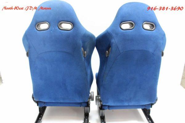 DC5 BLUE RECARO JDM RSX 2002-2004 OEM TYPE R RARE SET