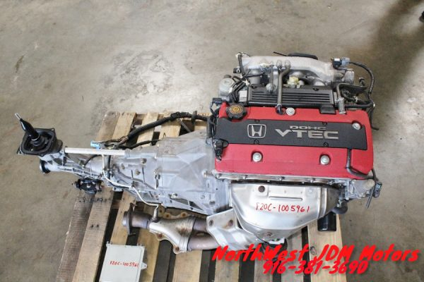JDM Honda S2000 AP1 F20C DOHC Engine 6 Speed RWD Transmission S2K F22C