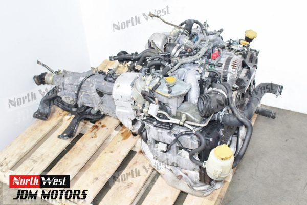 JDM 98-03 Subaru Legacy Twin Turbo EJ208 Engine 5Spd Trans TY754VBBBA