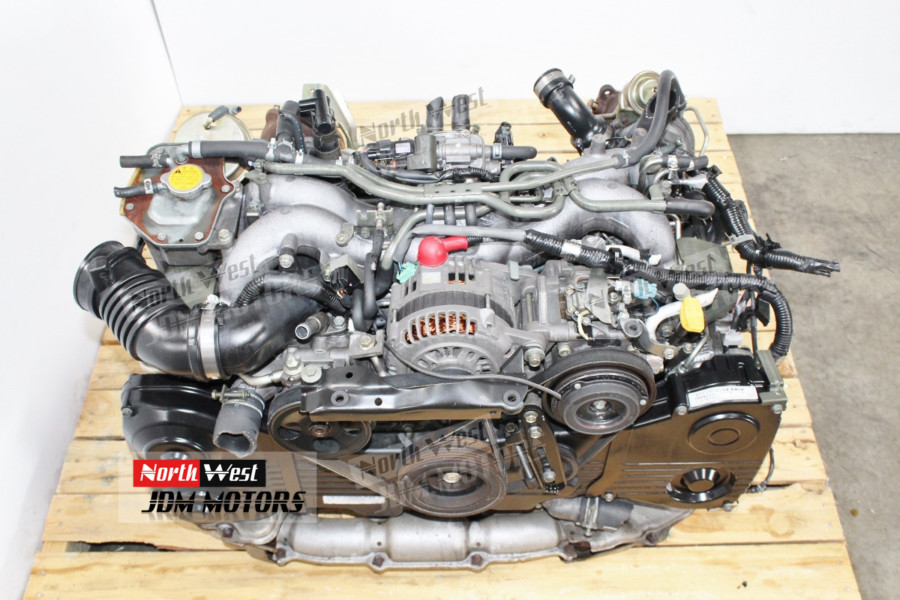JDM 98-03 Subaru Legacy Twin Turbo EJ206 EJ208 Engine 2 0L B5 BH - Japanese  Car Parts