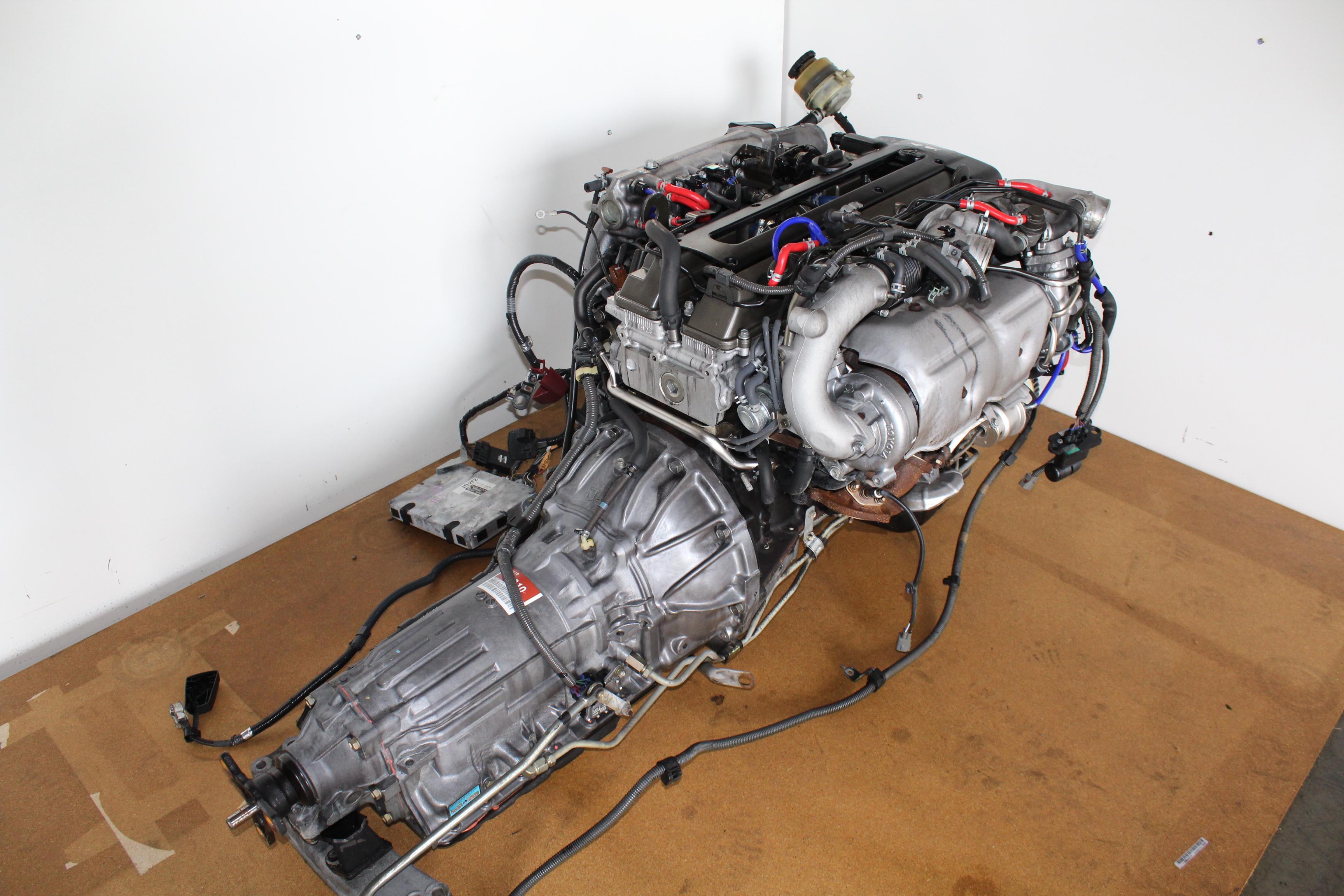 JDM Toyota/Lexus Aristo 2JZ-GTE Twin Turbo NON VVTI 3.0L 6 Cylinder Engine A/T TRANS - Japanese ...