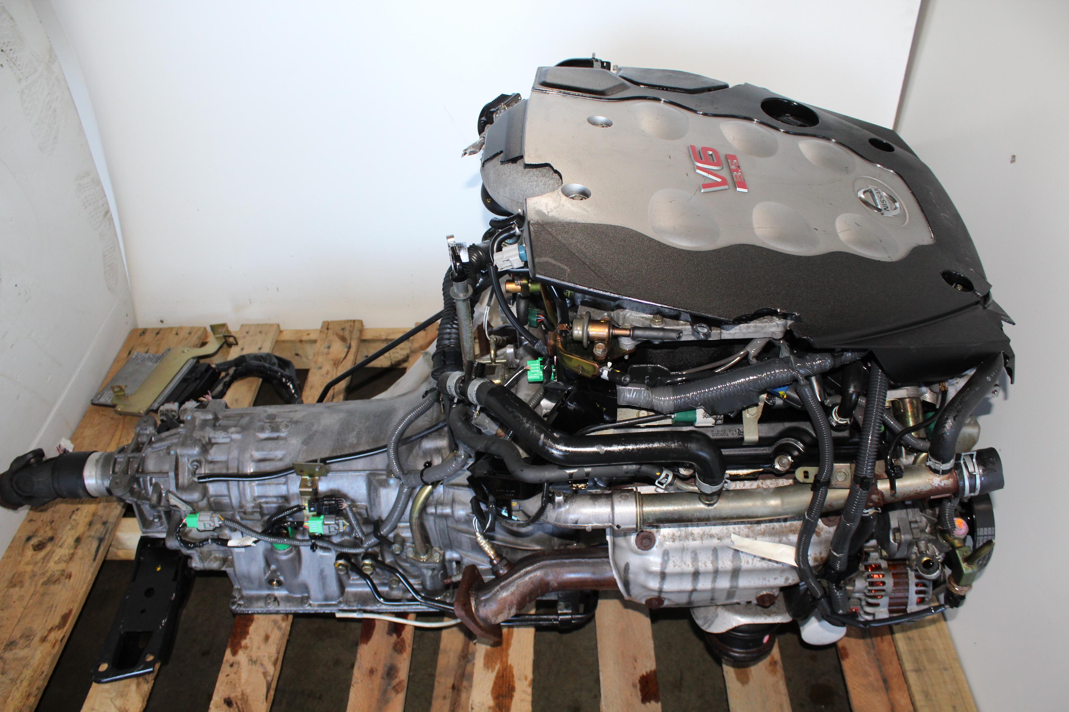JDM NISSAN 350Z FAIRLADY Z ENGINE A/T TRANS & ECU VQ35 3 ...